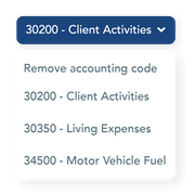 Map your chart of accounts