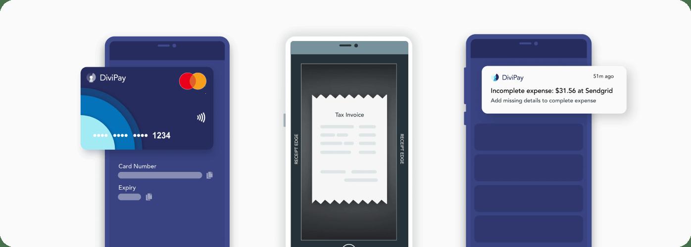 DiviPay app mockups