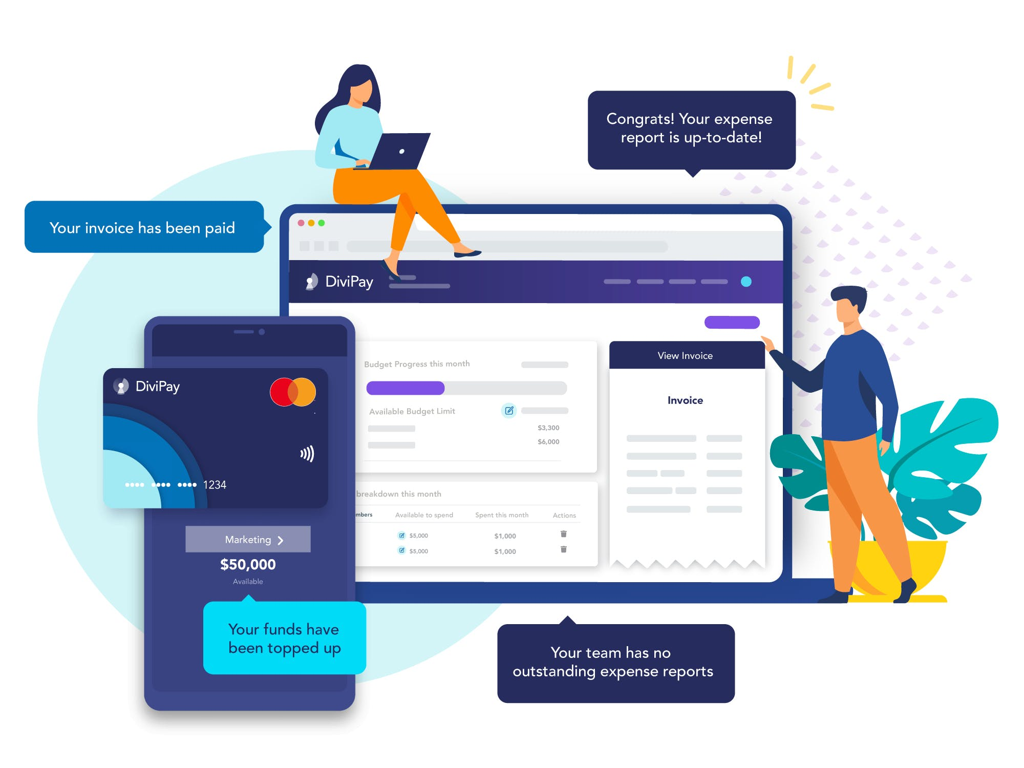 DiviPay - All-in-one spend management solution for small businesses.