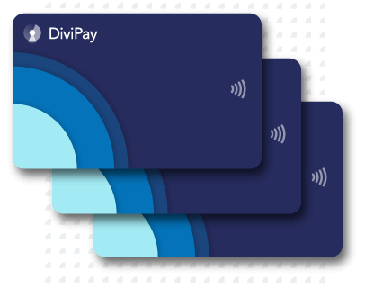 Stacked DiviPay cards