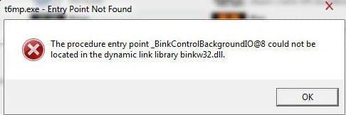 Ошибка bink2w64.dll при запуске компьютерных игр