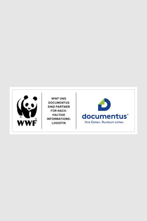 In Partnerschaft: Die Logos von documentus Köln und dem WWF.