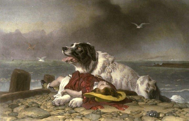 (Спасенная. Э. Г. Ландсир, 1856)