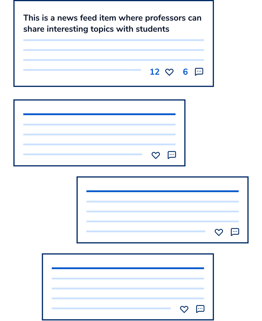 Mockup about Cogito's newsfeed