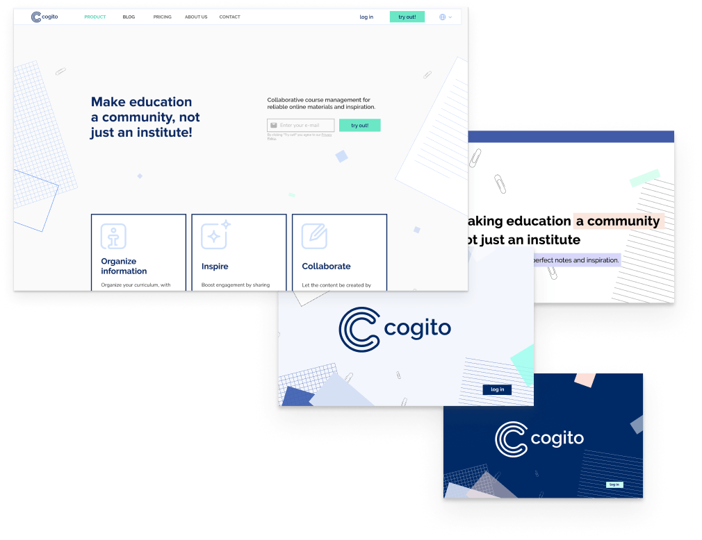 Cogito's screens with features