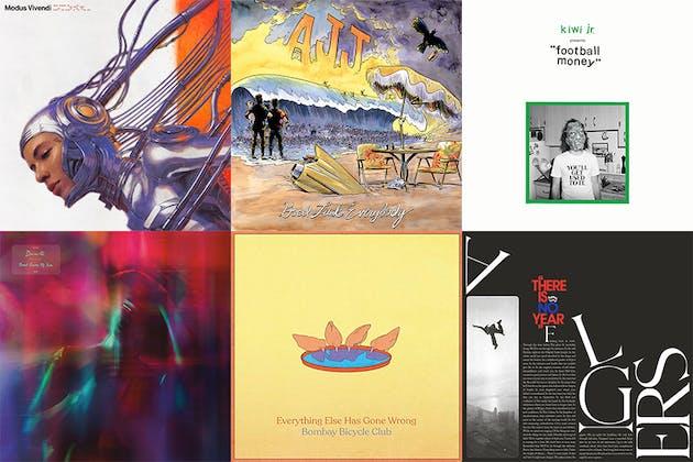 Grid of album artwork from January 17 2020
