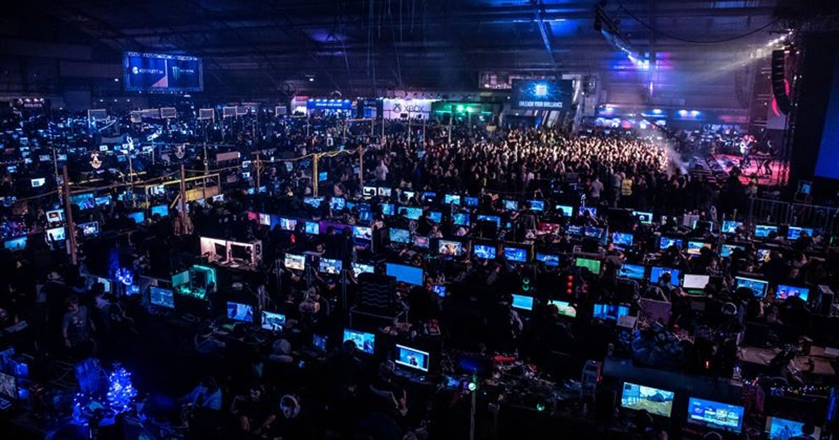 Dreamhack attendees bring their own PC's to play in the event's LAN area.