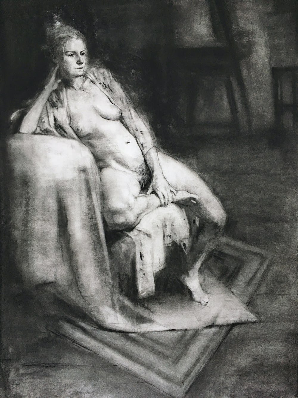 Long pose charcoal