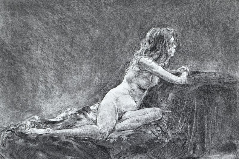 Online Tutored Life Drawing: Tone - 10-07-2020