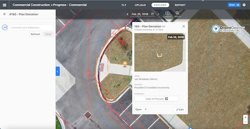 Tagging issues in DroneDeploy and auto-syncing to Procore Observations or BIM 360 Docs can now be done in minutes by linking them to high-resolution images with an exact site location.