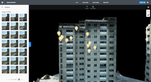 DroneDeploy Facade Inspections Workflow saves time and money on facade inspections while keeping employees safe.