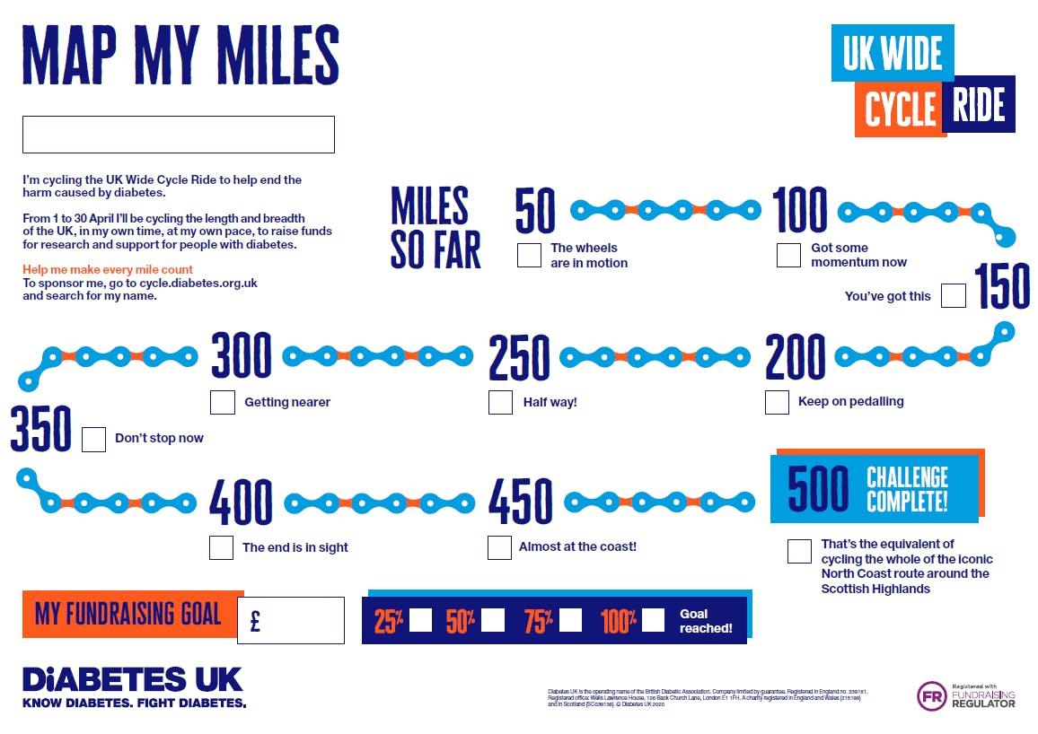 Progress poster - 500 miles