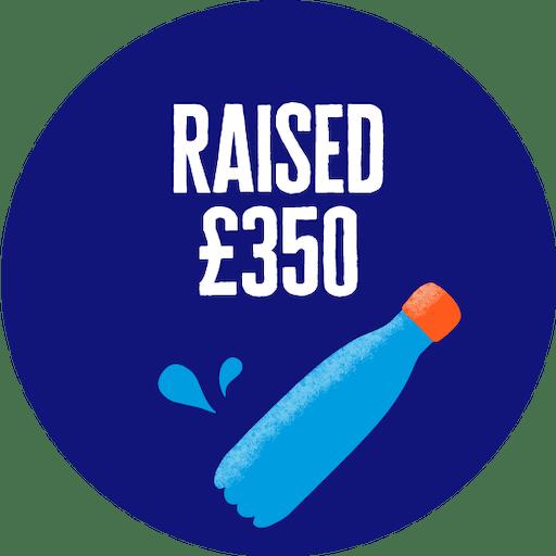 £350 raised