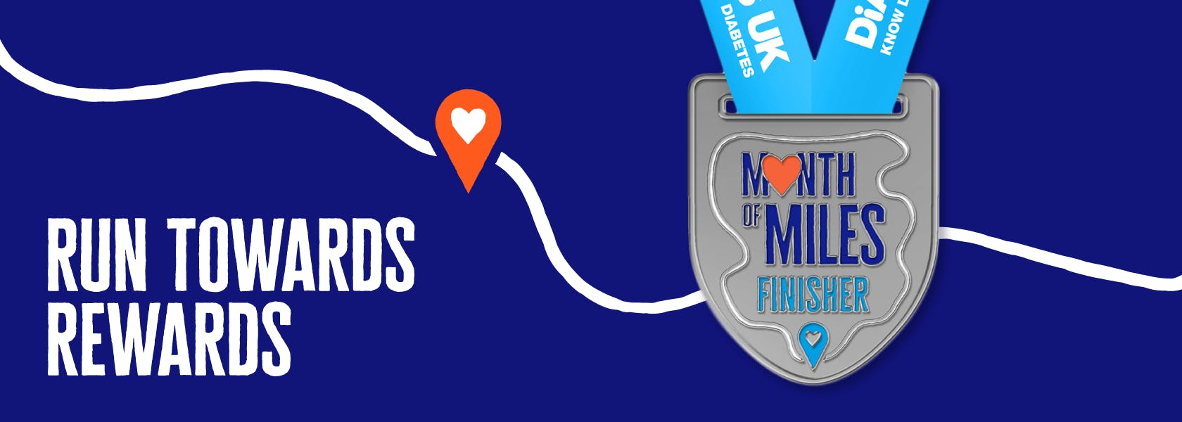 Collect your Month of Miles finisher medal as you complete your Diabetes UK running challenge
