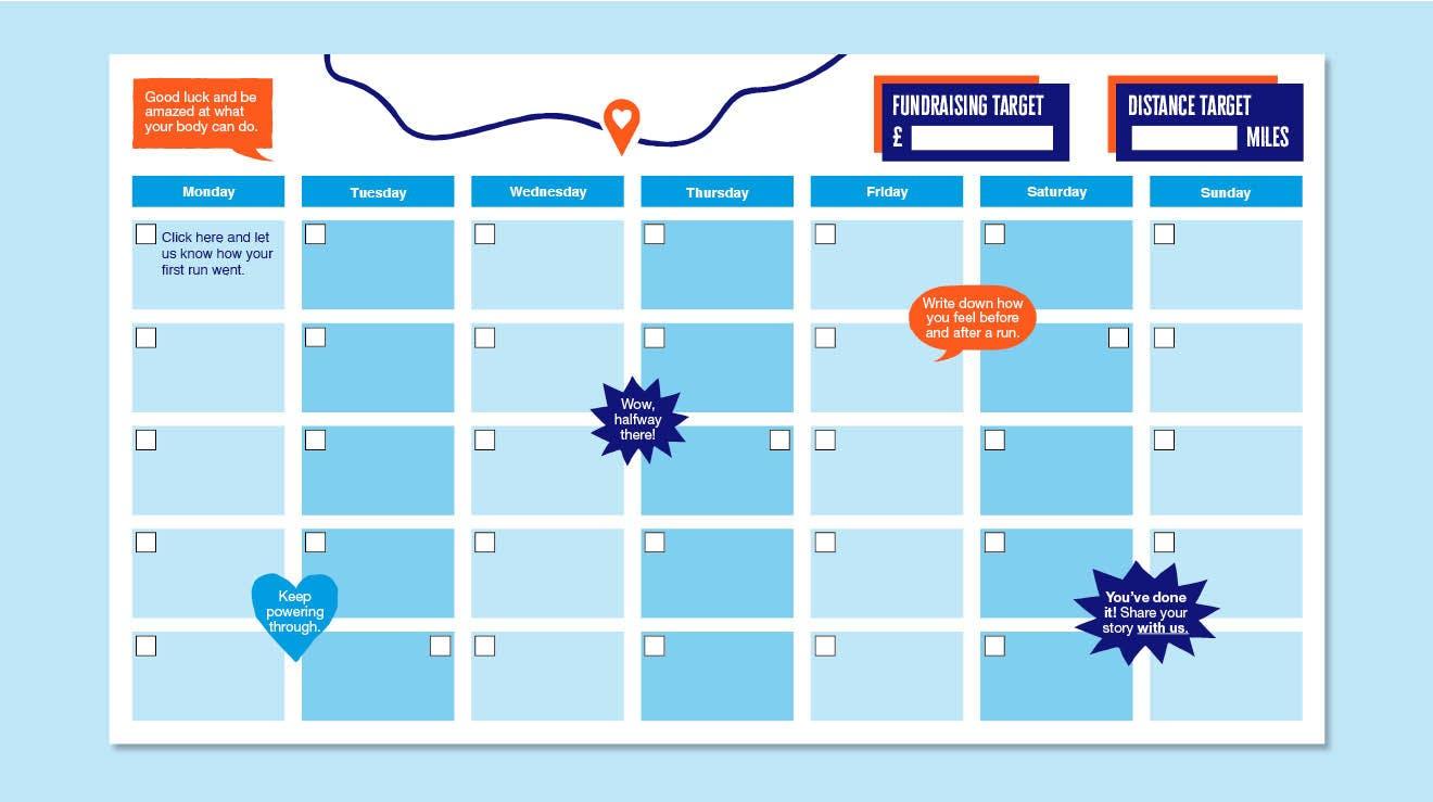 Month of Miles Running Schedule
