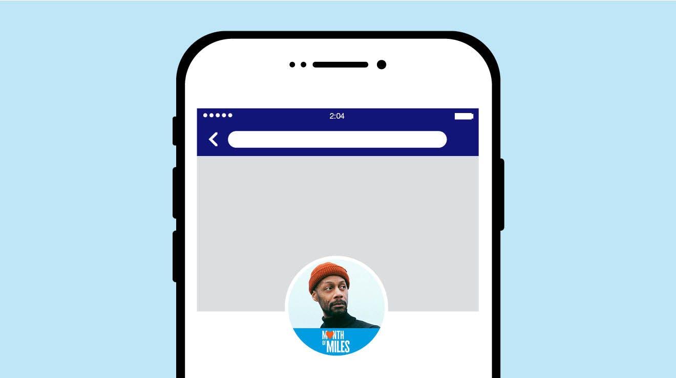 Month of Miles Facebook frame