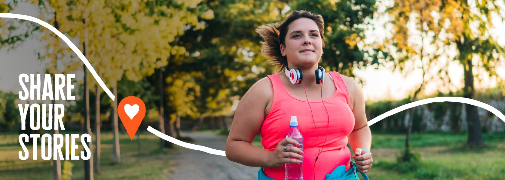 A lady running as she takes on her Diabetes UK Month of Miles challenge