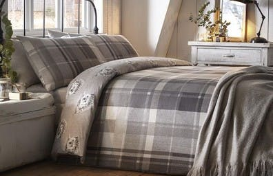 The brushed cotton bedding