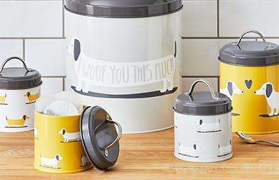 Bertie Sausage Dog Kitchen Canister Set