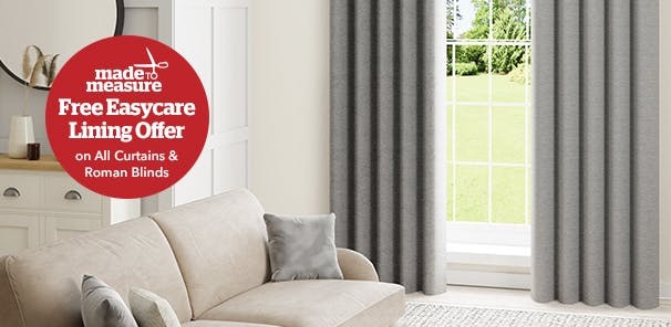 Order by 11th April to claim your free easy-care lining