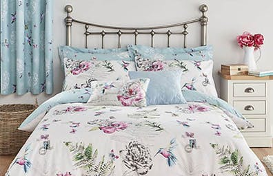 Heavenly Hummingbird Duck Egg Bedding Collection