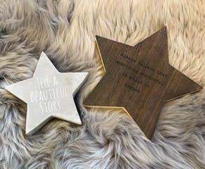 Wooden Star Plaque