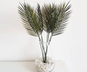 Set of Artificial Palm Leaves