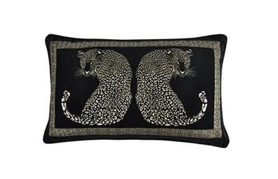 5A Black Leopard Cushion