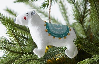 Festive Folk Polar Bear Tree Decoration