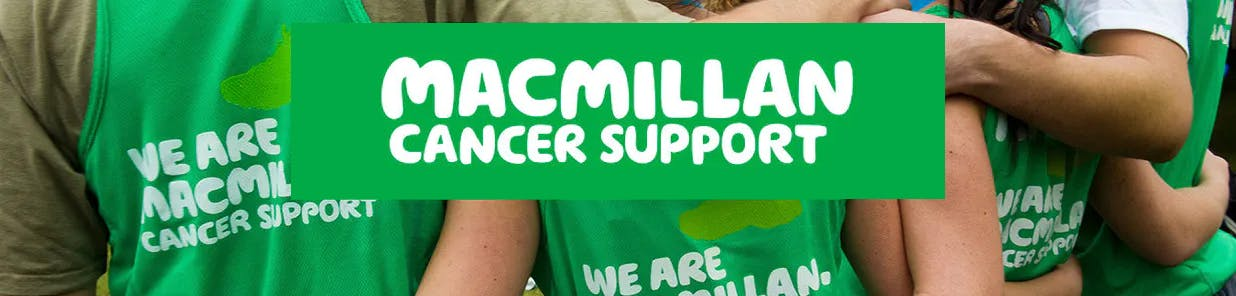 Proud to support Macmillan Cancer Support as our Charity Partner