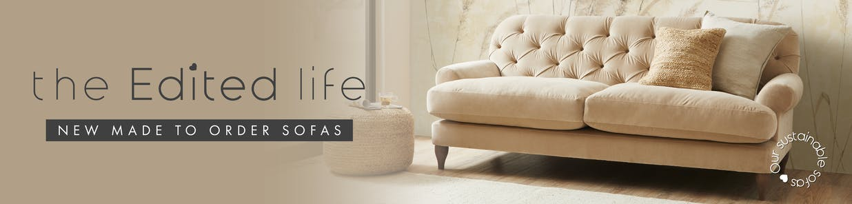 New eco-conscious sofas: designed with sustainability in mind, and made to order from £699