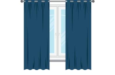 Should end 15cm below the window sill