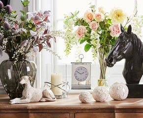 Beautiful home fragrances in candles, rooms mists and diffusers