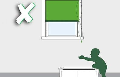 Do not put other furniture near a window blind, as children love to climb.