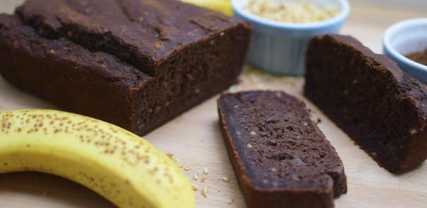 VEGAN BANANA AND CHOCOLATE BROWNIE LOAF