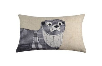 Water's Edge Grey Otter Cushion