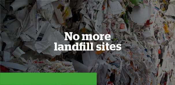 We aim to divert 100% of waste from landfill, and in 2020 we hit 97%. We still have a way to go, but we're working hard to hit our goal