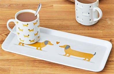 Bertie Sausage Dog Tea Tray