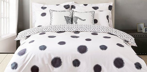 Inspired by Emma's love of polka dot prints, this bold range uses deep, inky tones of blue.