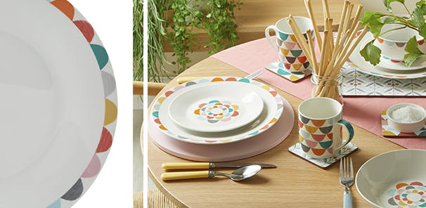Bright colours and fun patterns, from £6