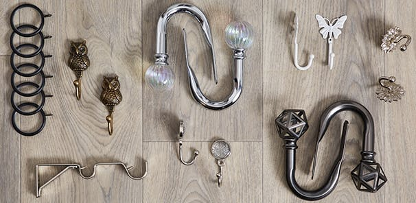 Decorative ends to hanging essentials