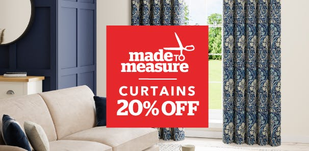 Shop our range of curtains made bespoke for your home and order directly to your door or book an appointment to discuss special requirements with an expert consultant