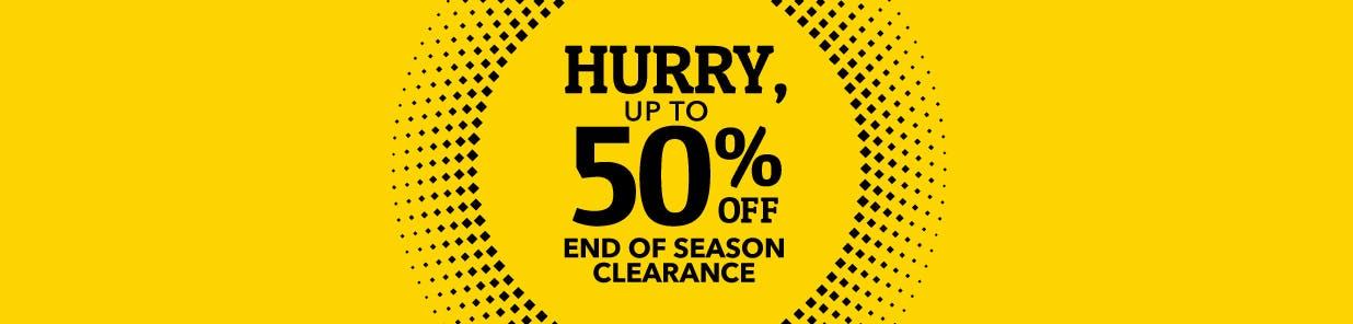 End-of-season savings