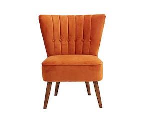 Isla Velvet Orange Cocktail Chair