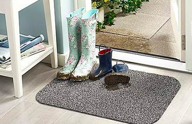 Minimise mess with a mat to catch dirt and drips.