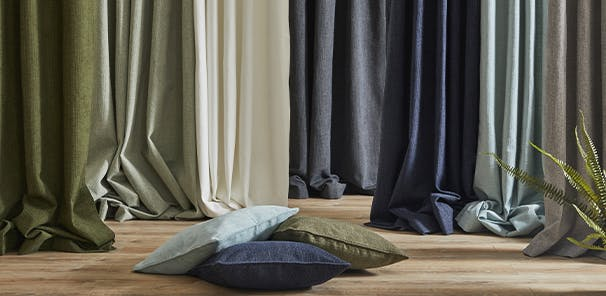 Available in a range of shades with blackout linings, from £40