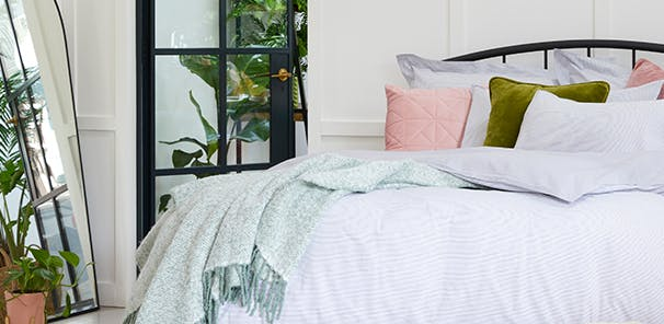 A great night's sleep changes everything. Invest in calming colours and soft textures for more restful nights and productive days.