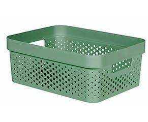 Recycled Plastic 11L Storage Basket