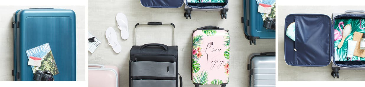 Travel light or take one of everything with some wheeled assistance