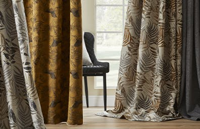 Full-bodied curtains in exclusive designs